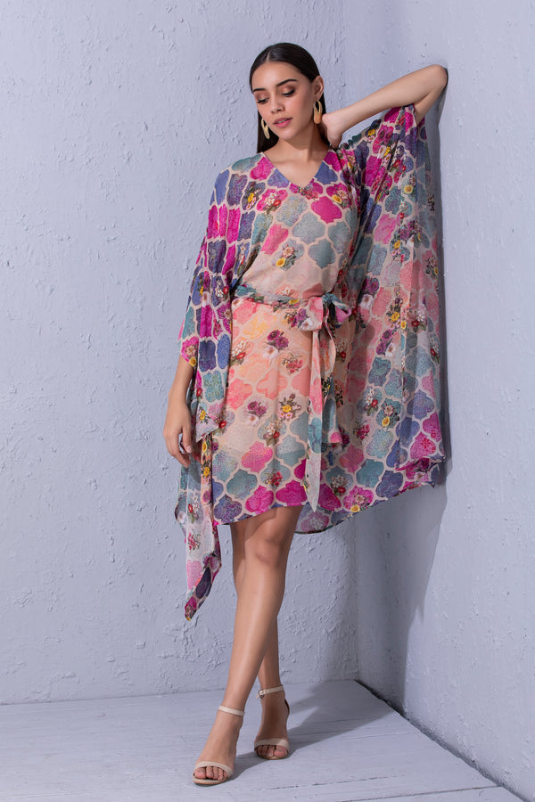 Moroccan Touch Printed kaftan
