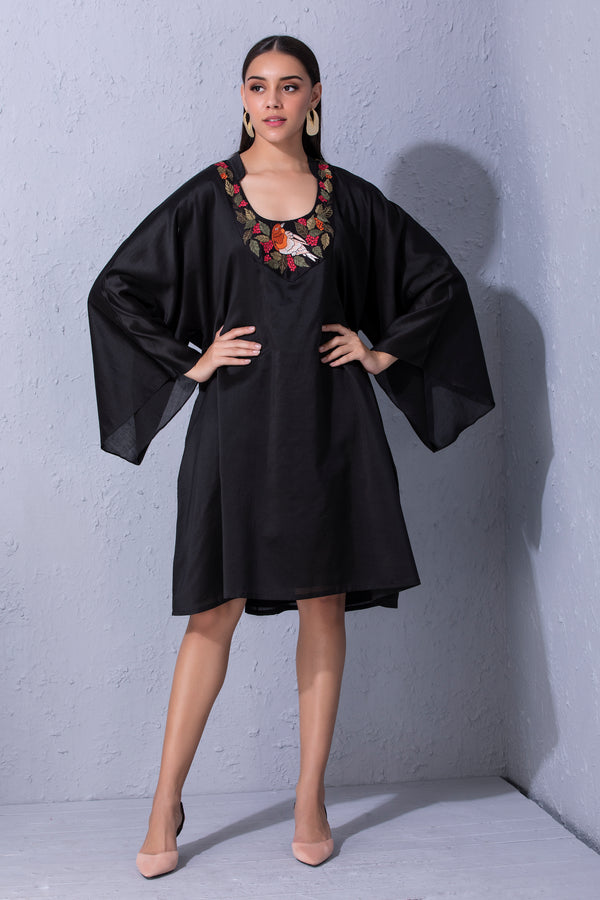Bird Story Black Flared Tunic