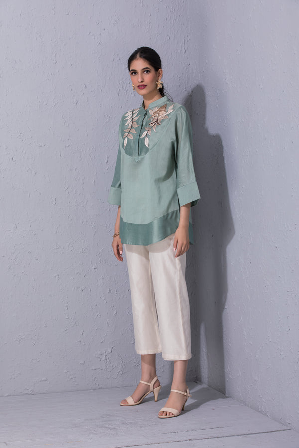 Bird Story Sage Green Short Tunic