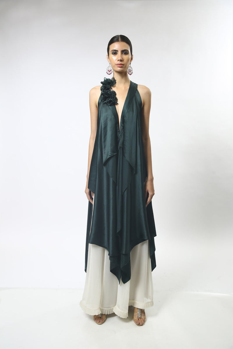 Long Front Open Tunic