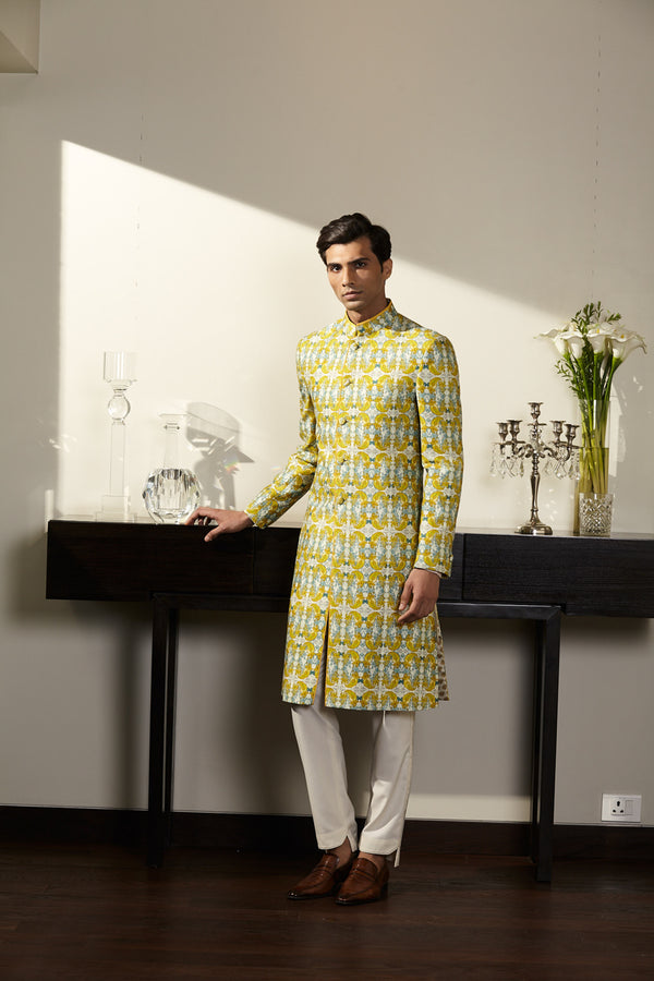Yellow Sherwani
