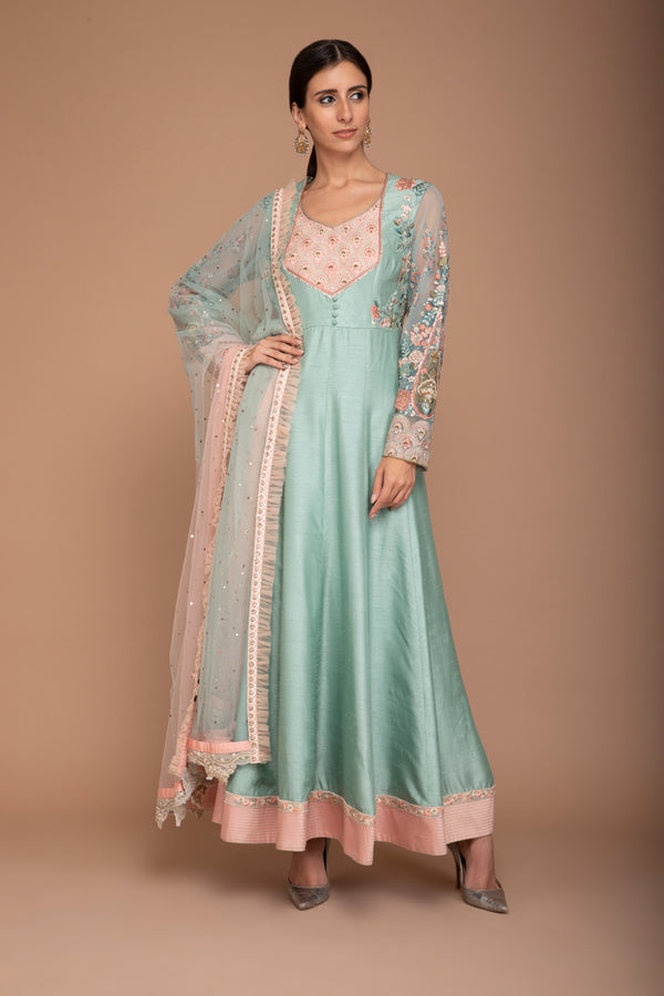 Mint Anarkali set