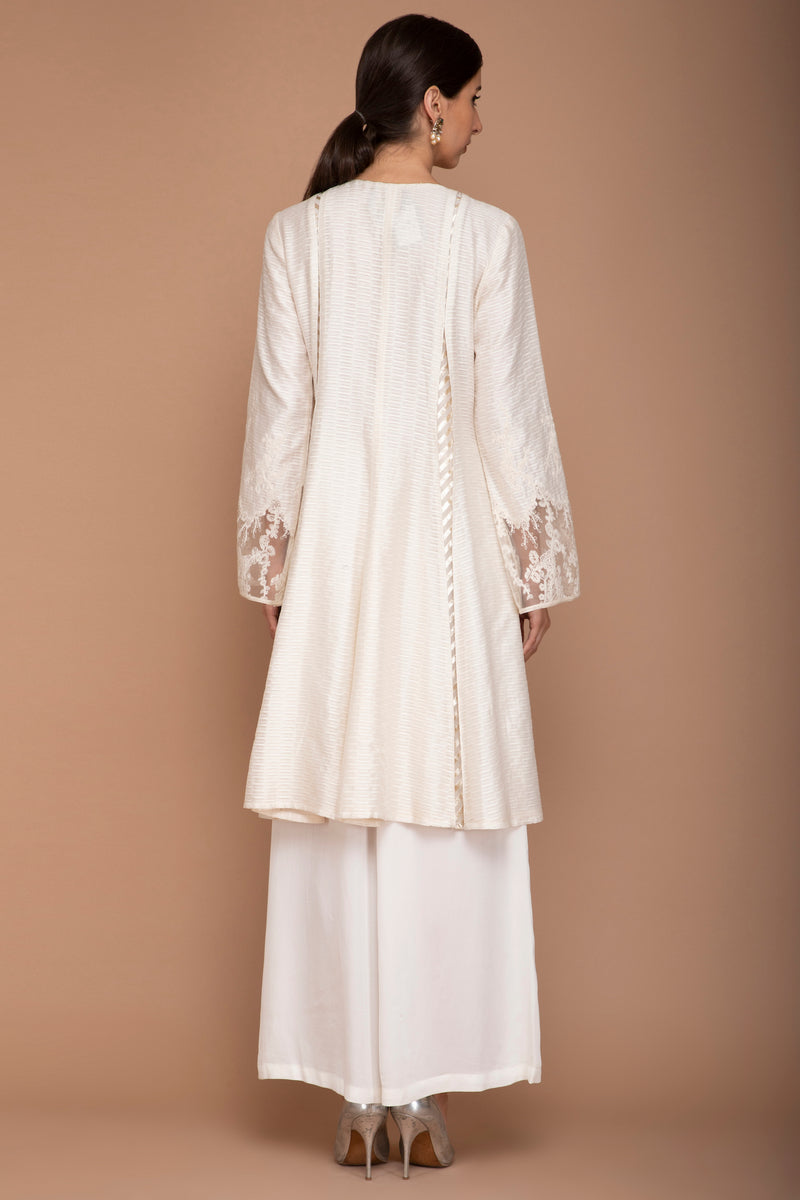 Ivory Kurta Set with Mukesh Work