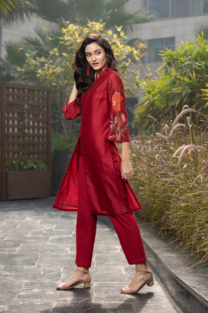Iris Flower Kurta and Pant Set