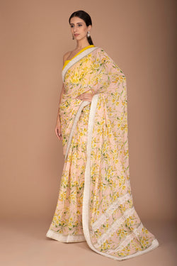 Printed Floral Saree