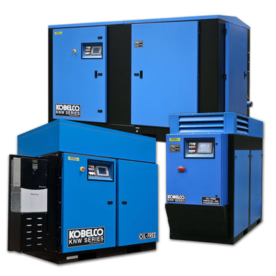 Rogers Rotary Screw Air Compressor - Kobelco KNW Series