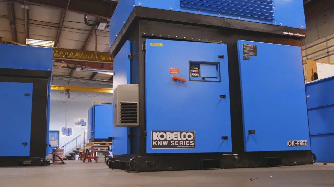 Rogers KNW Series Oil-Free Rotary Screw Air Compressor