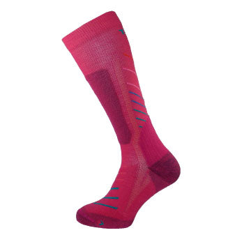 Teko Super Evo - Merino Sock - Raspberry Stripe - womens