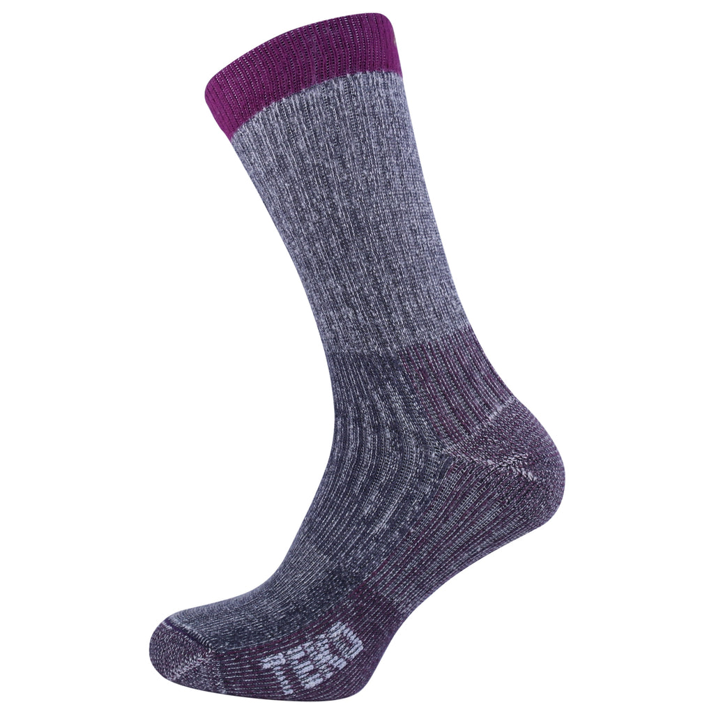 Teko Merino Hiking Socks - Medium Cushion - Char/Cran - Womens