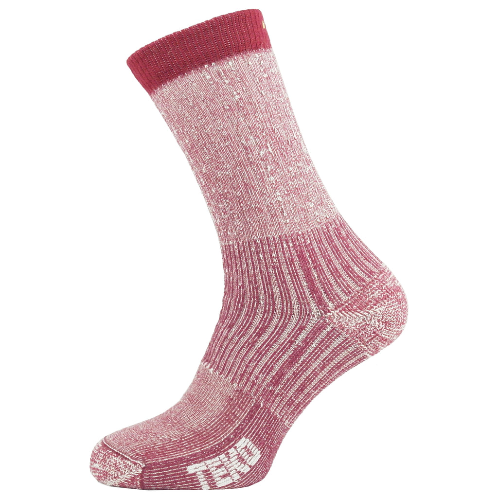 Teko Merino Hiking Socks - Medium Cushion - Cranberry - Womens
