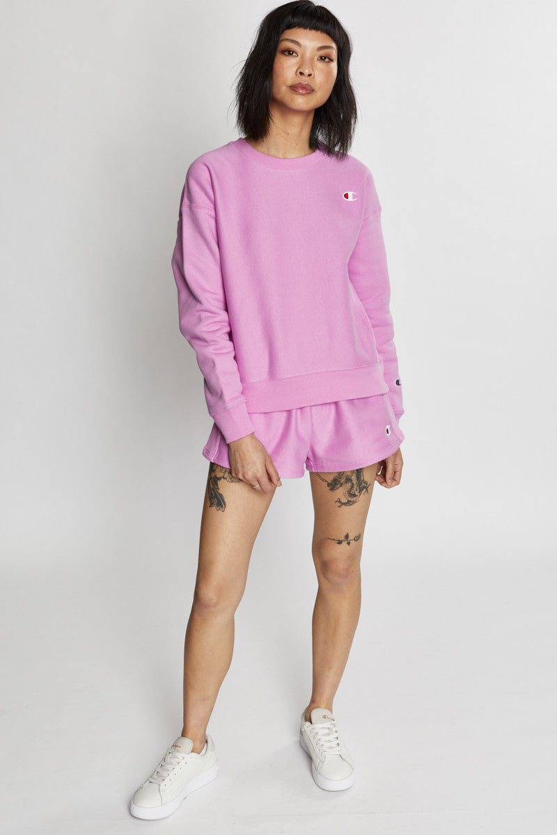 Champion Reverse Weave Crew (W) - Paper Orchid
