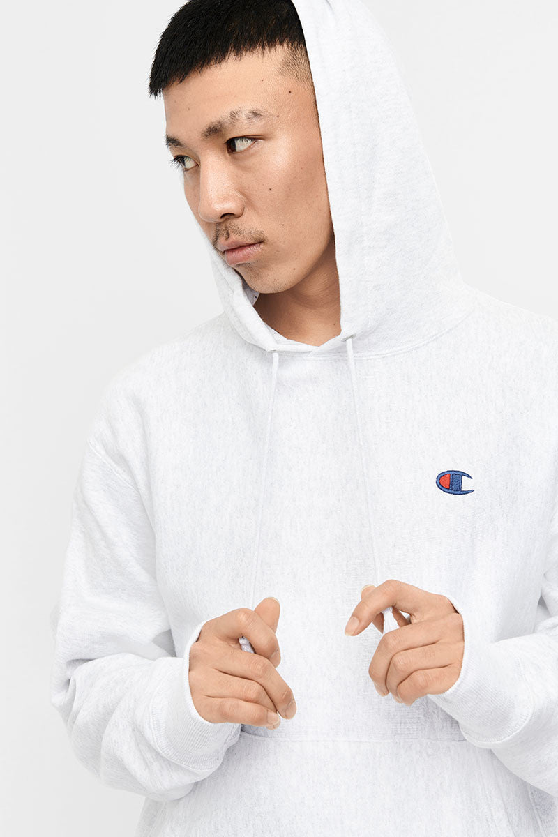 Champion Reverse Weave Hoodie (M) - Silver/Grey