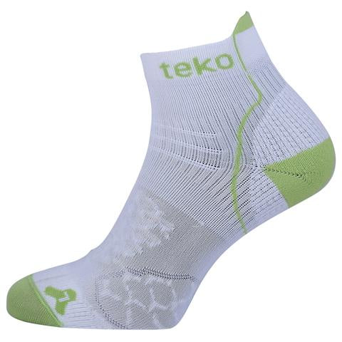 Teko RunFit Running Socks White/Firefly - Mens