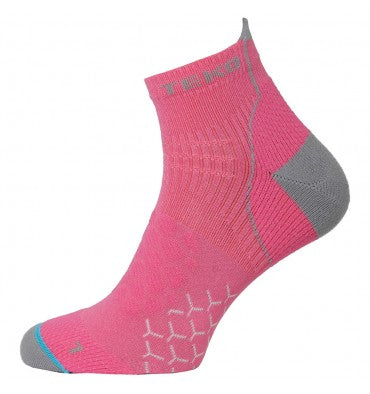 Teko RunFit Running & Fitness Socks - Fuschia/Grey - Womens
