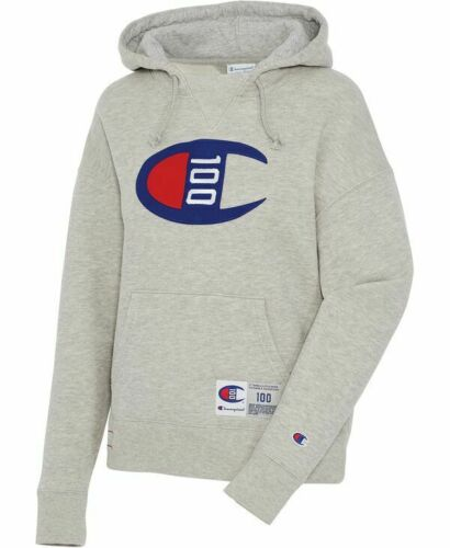 Champion Century C Logo Hoodie (M) - Oxford Heather
