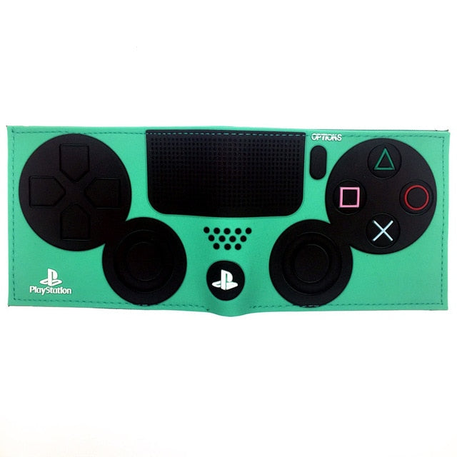 PlayStation 4 Wallet With Coin Pocket ID Card Holder 3D Touch PVC Short Purse for Young