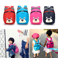 Fashion Children Backpack Anti-lost Canvas Bag Cartoon Animal