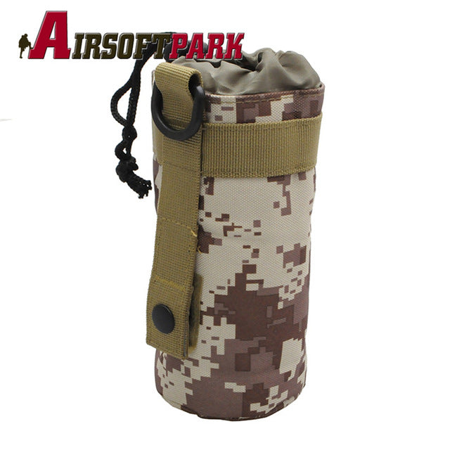 Bottle Bag Molle System Kettle Pouch Holder Camping Cycling Bottle Bag Drawstring Pouch