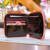 Women Card Holder Short Wallet Laser Hologram Embroidery Moon Night Clutch Coin