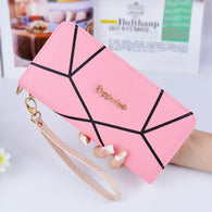 Brand Geometric Designs Long Wallets Ladies Fashion Women Zipper Wallet Hand Bag