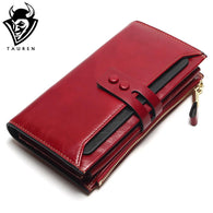 Women Wallets Genuine Leather High Quality Long Design Clutch Cowhide Wallet High Quality