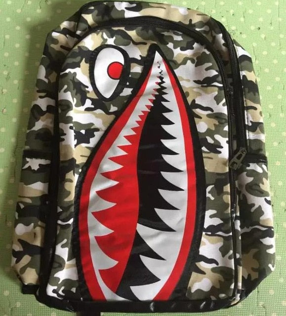 Women Shark Mouth Backpack Fashion School Bags For Teenagers Girls Printing Backpack School Book