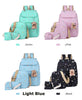 Backpack 5 Pcs/set Women School Backpacks Schoolbag For Teenagers Student Book Bag