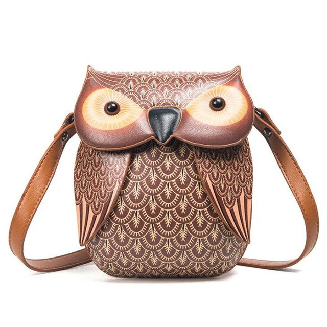 Mini Women Bag Cute Owl Crossbody Bags Lady'S