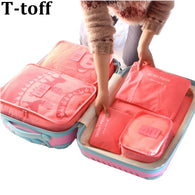Travel Bag System Durable 6 Pieces One Set Large Capacity Of Unisex Clothing