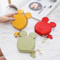design Mickey head wallets women wallets small cute cartoon kawaii card holder key chain money