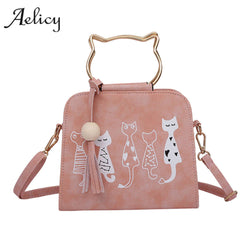 Animal Messenger Bag Women Handbags Cat Rabbit Patter Pattern