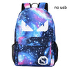 Girls School Bags Boy USB Anti-theft Luminous Backpack Teenager Waterproof Starry Sky
