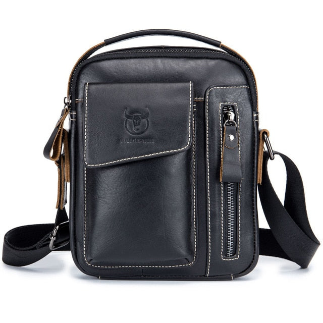 Casual Handbag Handle Pack Men's Cross Body Shoulder Bag Male Cowhide