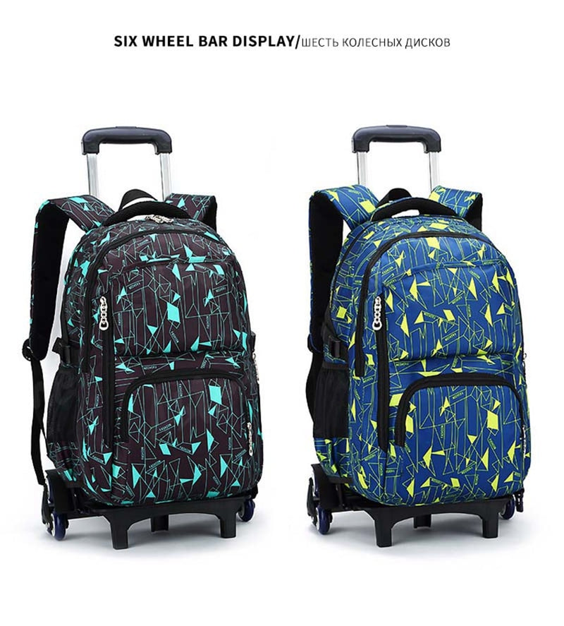 01808eb8ec3e ... Kids boys girls Trolley Schoolbag Luggage Book Bags Backpack Latest  Removable ...