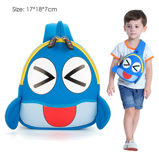 131bdcd098f Backpack Cartoon One-eyed Monster Waterproof Neoprene Fabric For Toddler