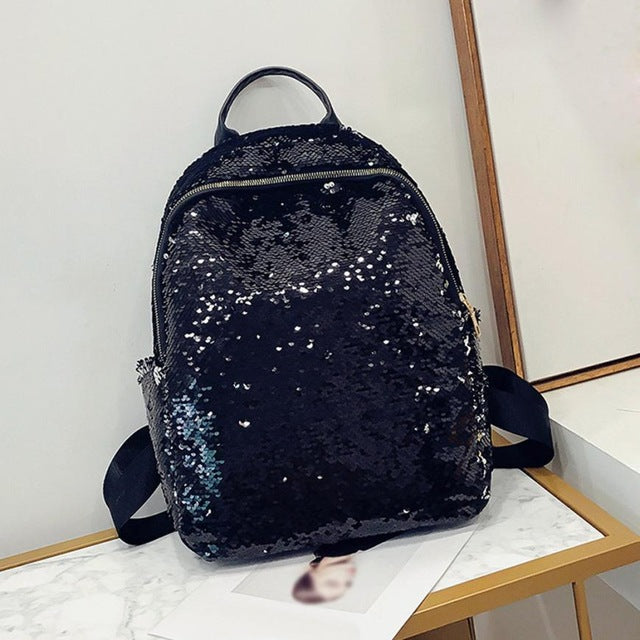 Backpack Fashion Girl Sequins School Backpack Satchel Student