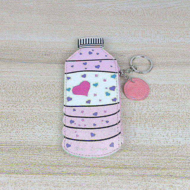 Kawaii PU Leather Coin Purse Square Cute Bottle Drink Ice Cream