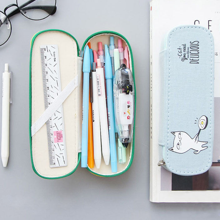Canvas Pen Pencil Stationery Bag Case