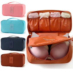 PACGOTH Underwear Organizer Handbag Nylon Packing Organizers Solid Portable Multifunction Bags