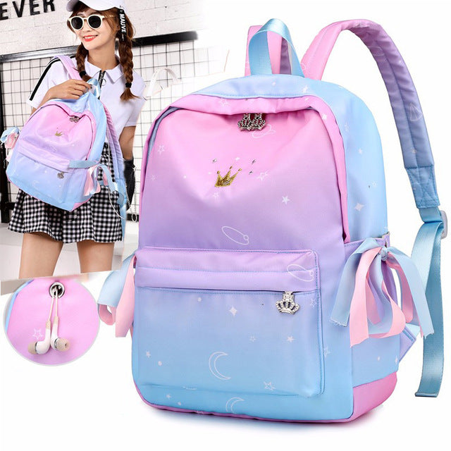 Pink School Children Schoolbags For Girls Primary School Book Bag School Bags