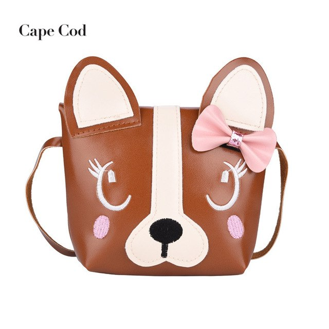 Cartoon Lovely Kids Shoulder Bag PU Leather Messenger Casual Tote Small Crossbody Handbag
