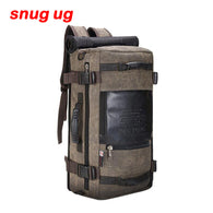 Men Travel Bag out Mountaineering Backpack Canvas Bucket Shoulder