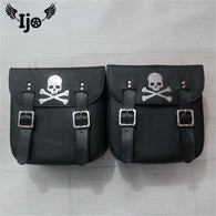 Motorcycle PU Leather Saddlebags Storage Tool Pouches Bags Left Right Saddle Bag