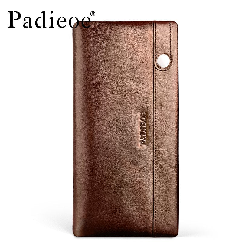 Men's Wallet Genuine Leather Purse for Male Real Cowhide