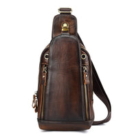 Cross pack Rucksack Vintage Real Cowhide Brush Color Shoulder Bag Cross body