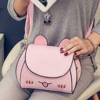 girls cat bag women small messenger bags mini shoulder cross body bag female