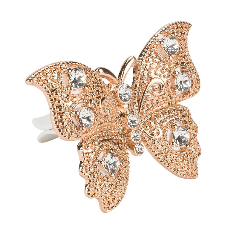 Rose Gold Princess Butterfly Vent Charm