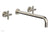 "TRANSITION - Wall Lavatory Set 14"" Spout - Cross Handles 120-11-14"