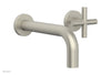 TRANSITION - Single Handle Wall Lavatory Set - Cross Handles 120-15