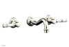 HENRI Wall Lavatory Set - White Marble Lever Handels 161-13